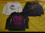 Mädchen T-shirts 3 Stück langarm